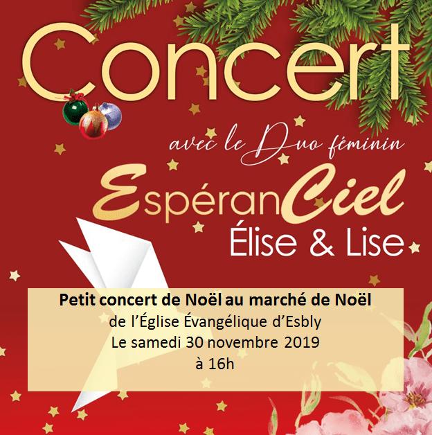 Prochain Concert d'EspéranCiel