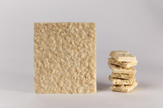 tablette de chocolat blanc riz souffle