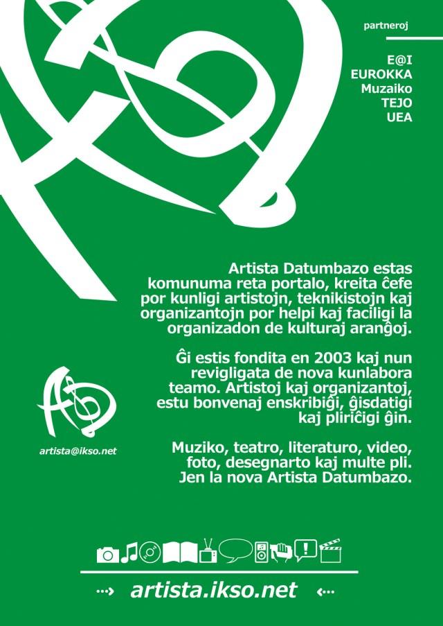 에스페란토 예술가 인적 자료 누리집 (http://artista.ikso.net)