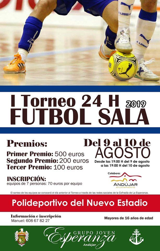 Cartel del I Torneo 24 horas de fútbol sala