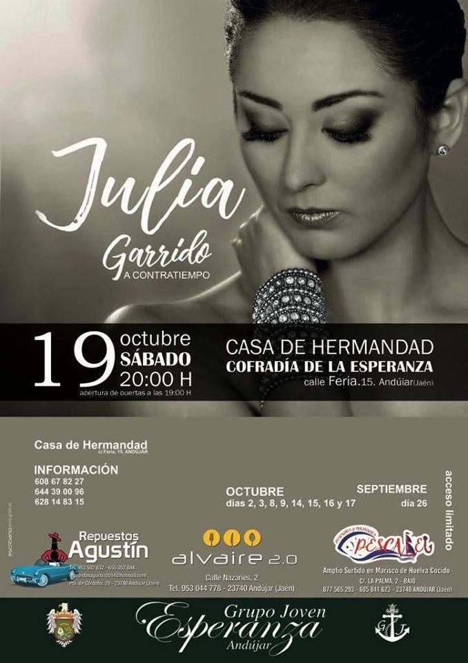 """Cartel del evento """"A contracorriente"""" de Julia Garrido"""