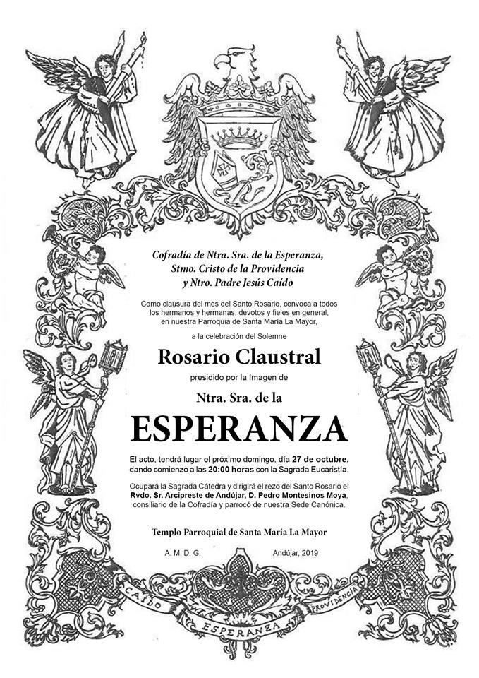 Orla del Rosario claustral de Ntra. Sra. de la Esperanza del año 2019