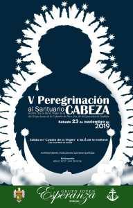 Cartel Peregrinación al Santuario de Ntra. Sra. de la Cabeza del año 2019