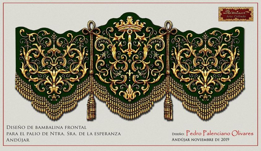 Diseño del frontal de las bambalinas para el palio de Ntra. Sra. de la Esperanza