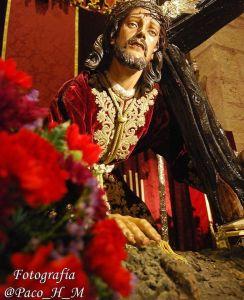 Imagen de Ntro. Padre Jesús Caído durante su Triduo del año 2019