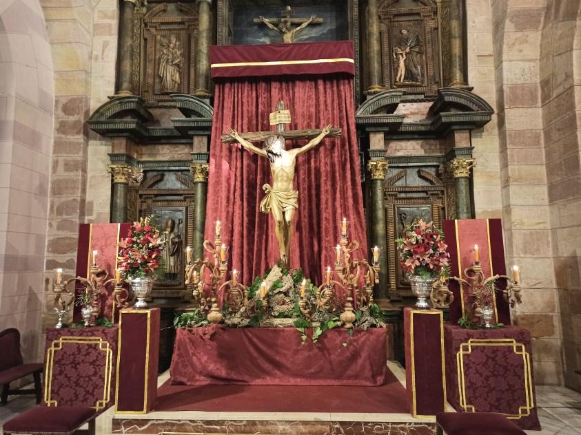 Altar efimero al Cristo de la Providencia durante su Triduo del año 2020