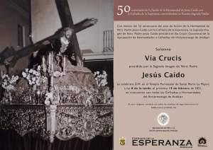Ntro. P. Jesús Caído presidirá el Vía Crucis de la Agrupación de Andújar
