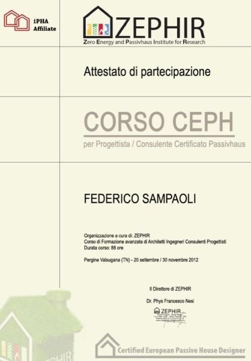Attestato Corso CEPH