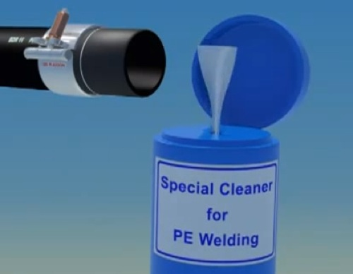 Saldatura per elettrofusione di una tubazione in PE