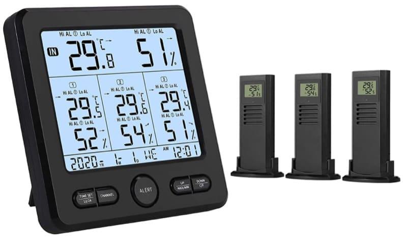 regolazione temperature ambiente - Termometro igrometro termoigrometro videocamera videocitofono per la casa 6
