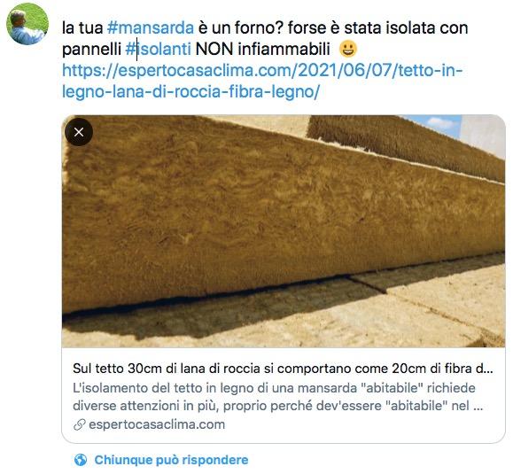 isolamento tetto in legno - Sul tetto 30cm di lana di roccia si comportano come 20cm di fibra di legno 50