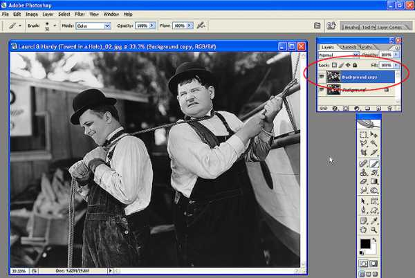 Как в фотошопе раскрасить черно белую фотографию – Как ...