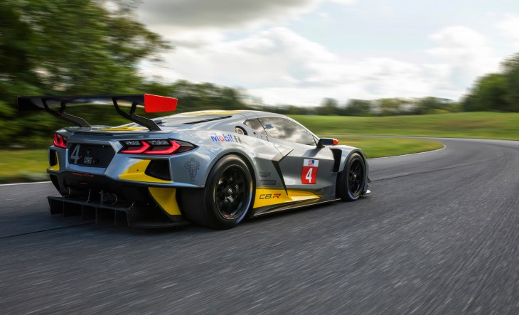 The Corvette C8.R is Chevy's first mid-engine GTLM race car. T