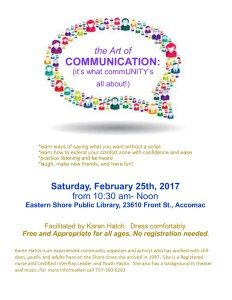The Art of Communication Workshop @ ESPL Main | Accomac | Virginia | United States