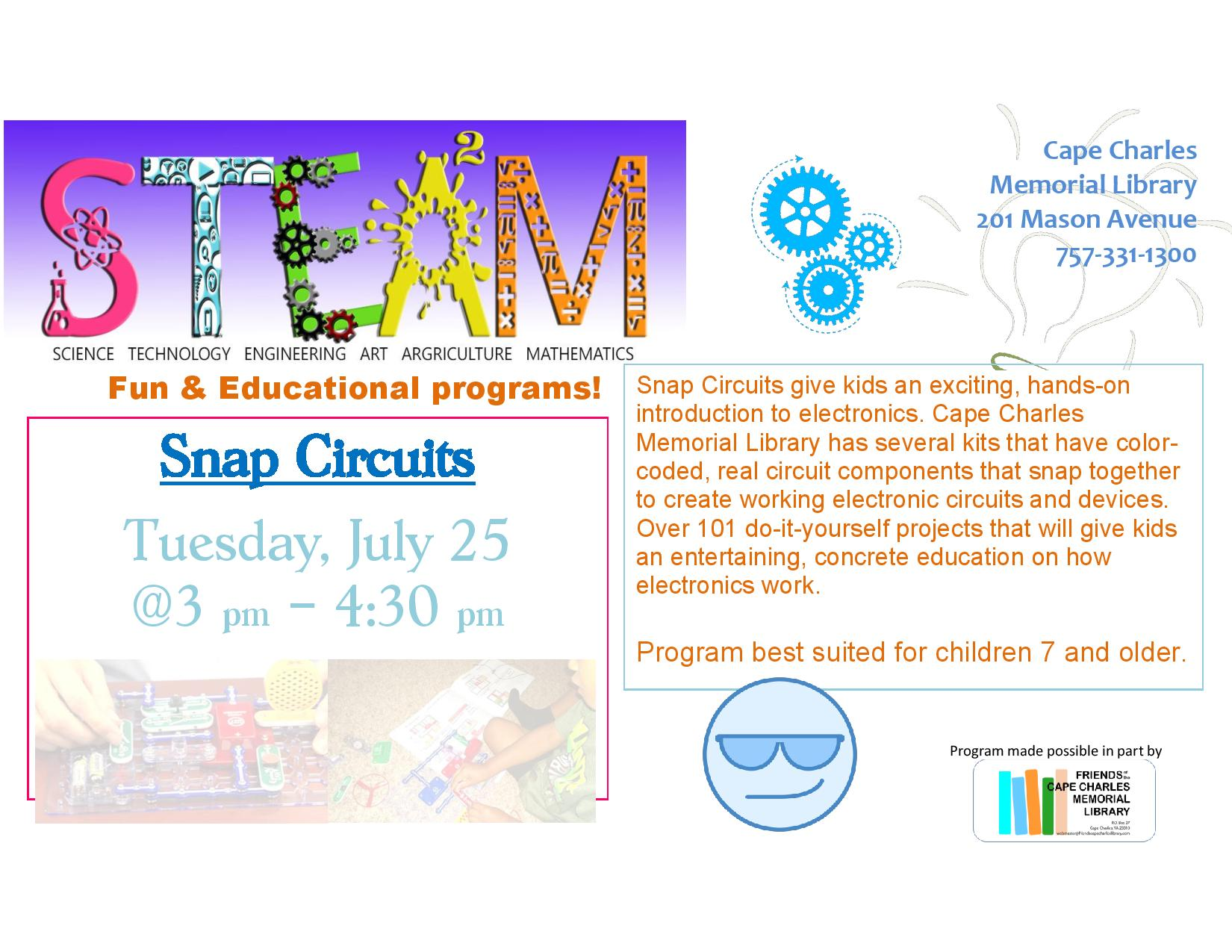 Eastern Shore Public Library Steam Snap Circuits Circuit For Kids