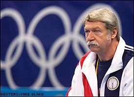 Bela Karolyi has been accused of beating one of his former gymnasts, Romanian Trudi Kollar, who competed under the name Emilia Eberle.