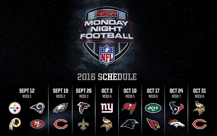 Image result for ESPN Monday Night Football 2016