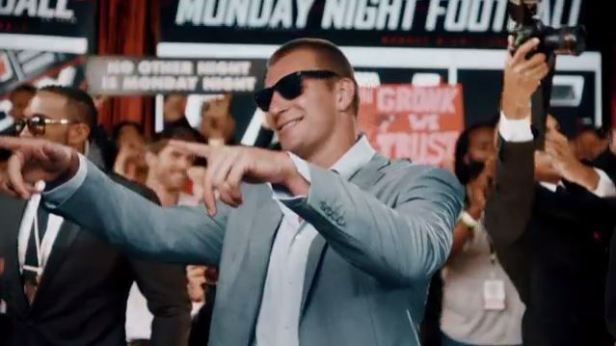 Rob Gronkowski (New England Patriots) at ESPN's MNF open shoot in July 2016 (credit: ESPN)