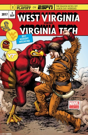 West Virginia vs Virginia Tech on Sept. 3, 2017