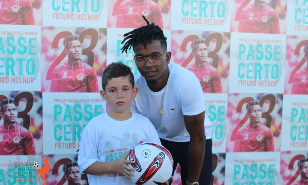Thiago Mendes, jogador do clube francês Lyon inicia projeto social com sede no Cariri