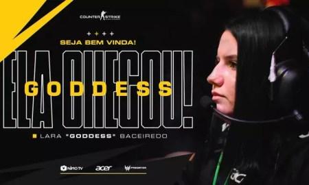 Lara 'goddess' Baceiredo é a nova jogadora da Black Dragons (Créditos: Divulgação/Black Dragons)