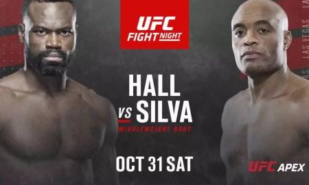 Card final UFC Vegas 12 Anderson Silva vs Uriah Hall