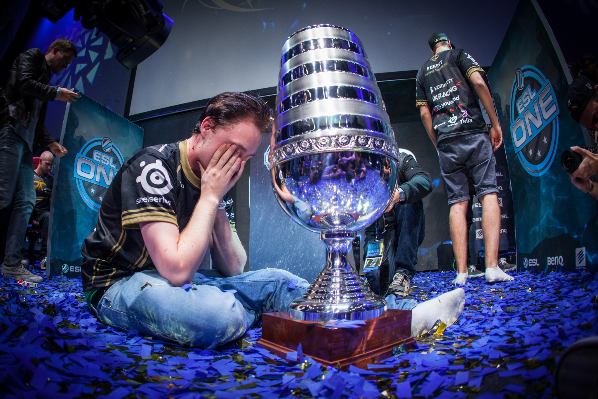 Get_Right is overcome by emotions as his tem Ninjas in Pyjamas claims the ESL One Cologne 2014 Major title. This one is special to me. It wasn't a big stage or a stadium, it was just pure raw emotion and too date this is one of my favorite esports moments!