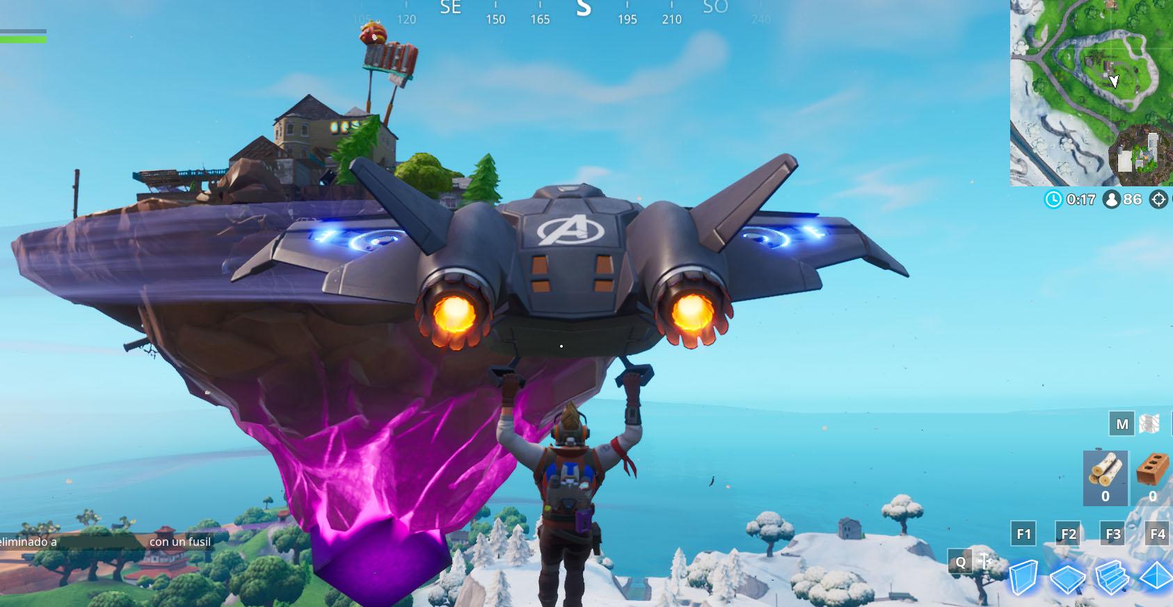 La Isla Flotante de Kevin el Cubo regresa a Fortnite sobre Latifundio Letal