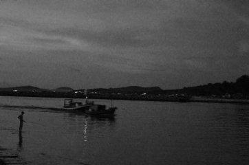 Mekong river, the fisherman
