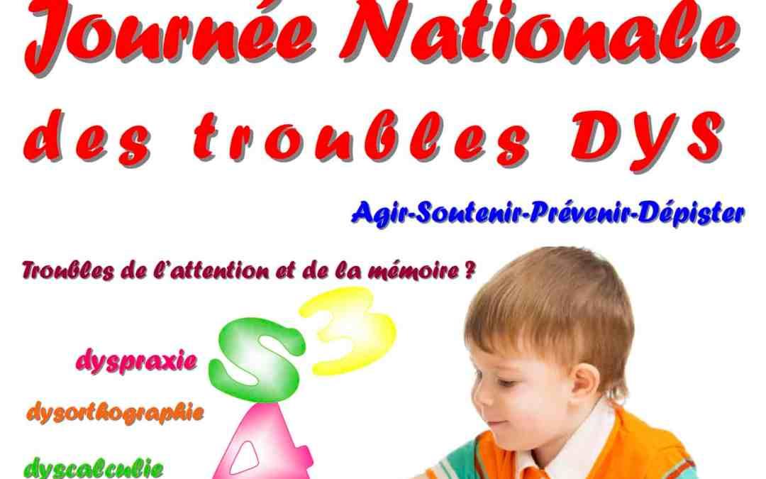 Journée nationale des troubles Dys le 8 Octobre à La Fare les Oliviers