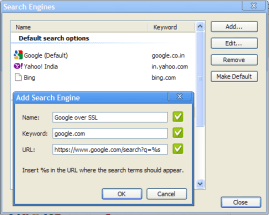 How to add SSL Google Search