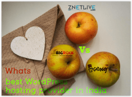 ZNetLive VS BigRock VS GoDaddy - Best WordPress Hosting in India