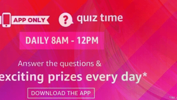 amazon quiz everyday win