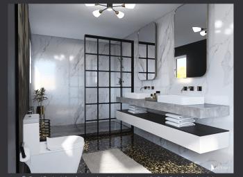 salle de bain noir:marbre