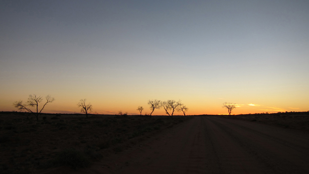 Lever de soleil sur l'Australie