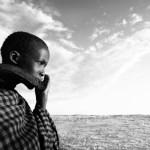 Jeune kenyan en marche