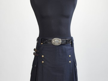 Kilt noir vendu sans la ceinture