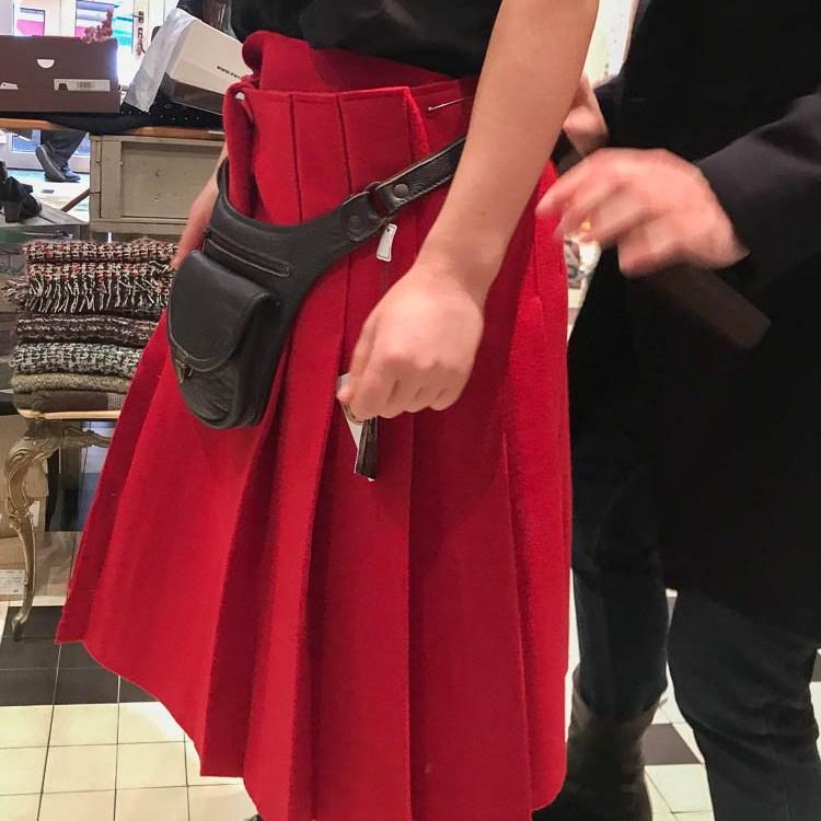 """essayage kilt Rouge """"Esprit Celtique"""""""