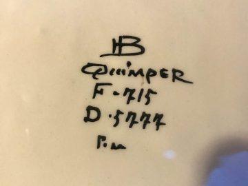 dessous du dessous de plat HB Quimper