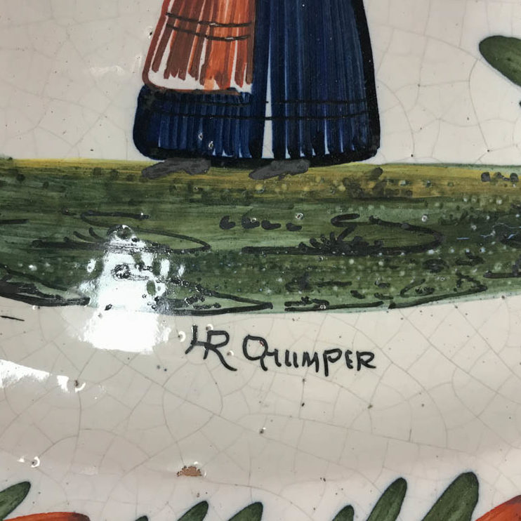 plat ancien Quimper