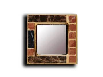 Mini miroir avec le cadre en Mosaïque de marbre