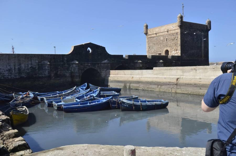 Arnaud Carette en prise de vue au Maroc