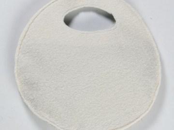 Charmant petit sac pillow en feutrine décorée(face unie)blanche