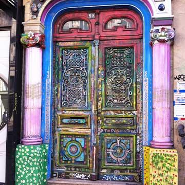 Art-decoratif-porte de maison