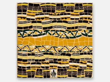 Tableau Henriot mosaïque jaune et noir