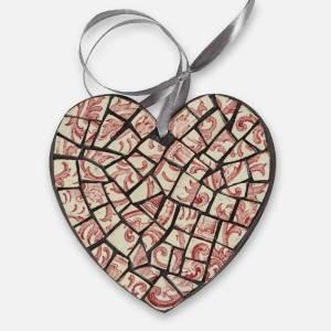 Coeur en mosaïque décoration de la maison