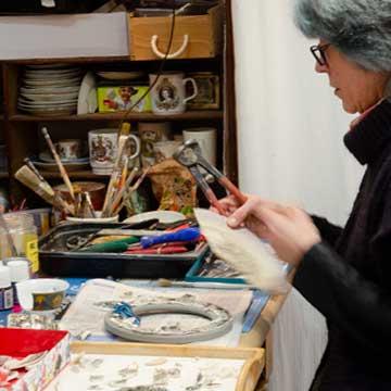 esprit celtique Nos boutiques de créateurs : Muriel Bigot dans son Atelier MB Mosaïques