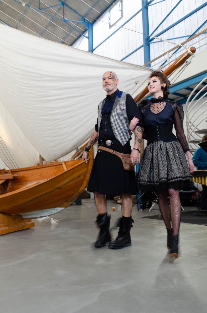 Modèles portés Kilt et jupe steampunk