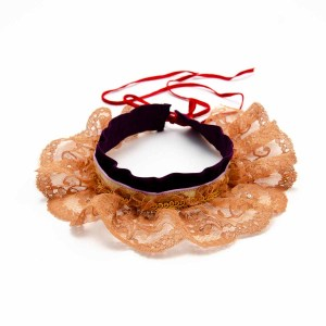 Collerette romantique en dentelle et velours,  à vendre dans la boutique Esprit Celtique