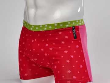Boxer étoile rose
